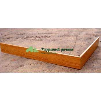 Оцинкованные грядки с нанесением имитации камня, дерева, мореного дуба (длина 1-12 метров, ширина 1,25 метра, высота 15 см)