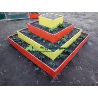Пирамида квадратная 4-х ярусная с имитацией камня, дерева (высота 15 см, толщина 0,6)