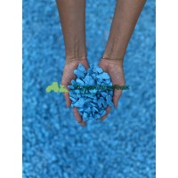 Декоративный мраморный щебень (5-20 мм), цвет голубой
