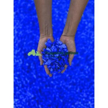 Декоративный мраморный щебень (5-20 мм), цвет синий