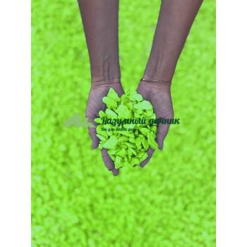 Декоративный мраморный щебень (5-20 мм), цвет салатовый