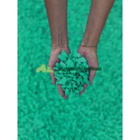 Декоративный мраморный щебень (5-20 мм), цвет зеленый